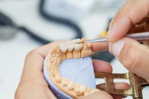 working on dental prosthetic